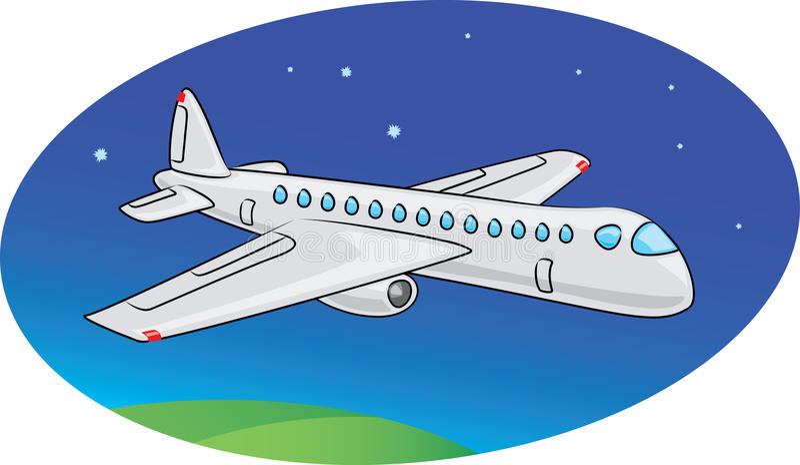 Download Passenger airplane stock vector. Image of transportation - 15487612