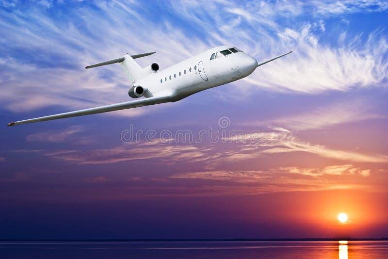 Download Passenger airplane stock photo. Image of lights, sunset - 24497996