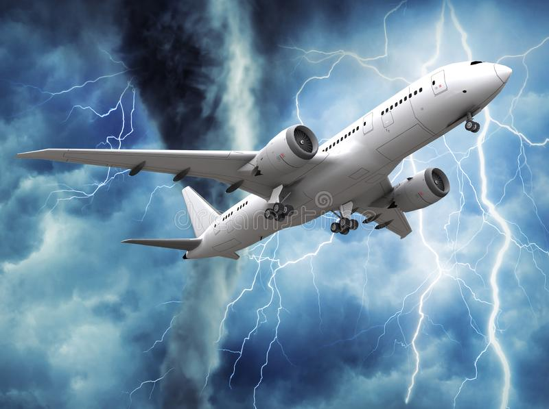 Passenger airplane rising in the sky. vector illustration