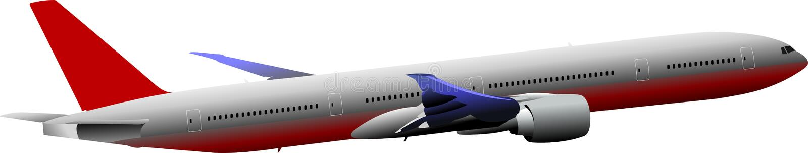 Passenger Airplanes.  Colored Vector illustr. Ation for designers royalty free illustration