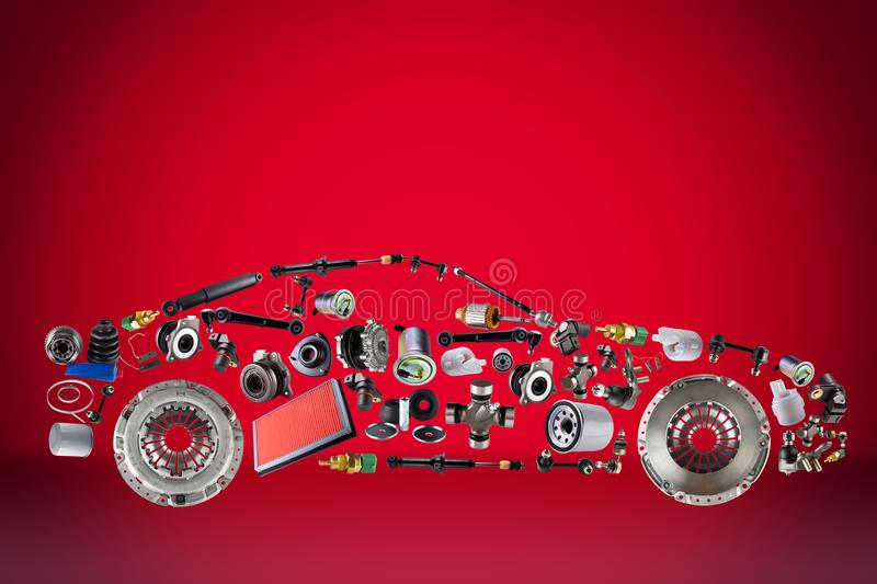 Passenger Car Assembled From New Spare Auto Parts For Shop Aftermarket Stock Photo Image Of Elegance Fast 111590050