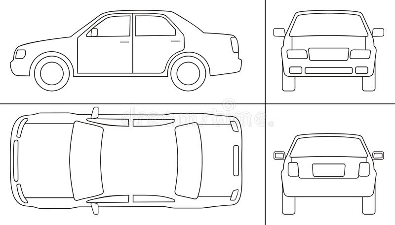 Download Passenger car keyline stock vector. Illustration of rear - 22263396