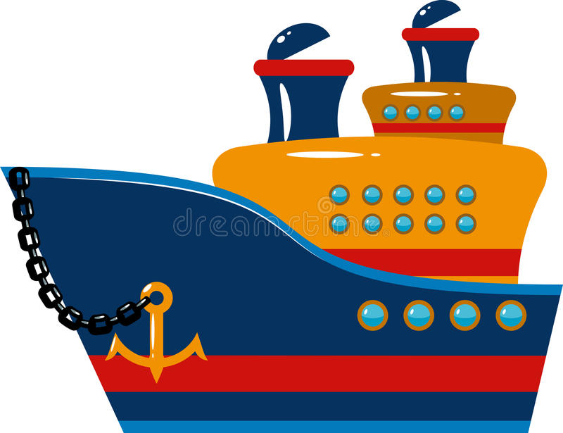 Passenger cruise ship stock illustration