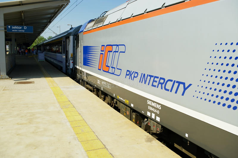 Passenger express train royalty free stock photography