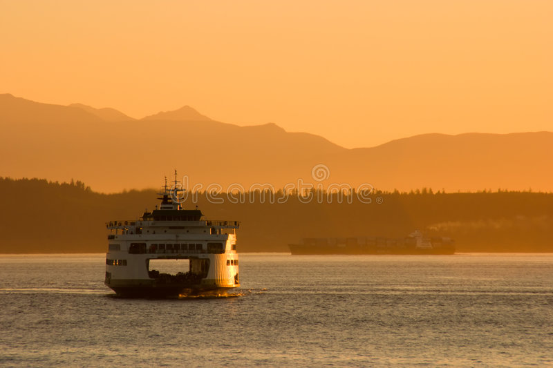 Download Passenger Ferry At Sunset Stock Image - Image: 2769071