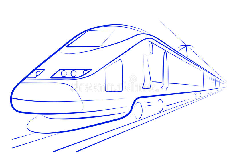 Passenger High-speed Train Royalty Free Stock Photography