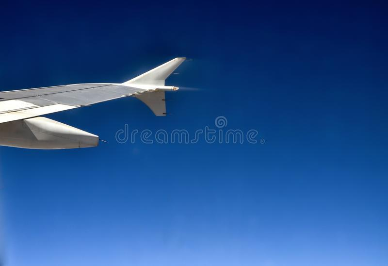 A passenger jet in the air. The air pollution in the space royalty free stock photography