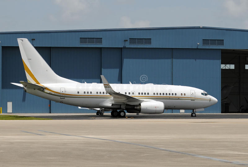 Passenger jet airplane stock photos