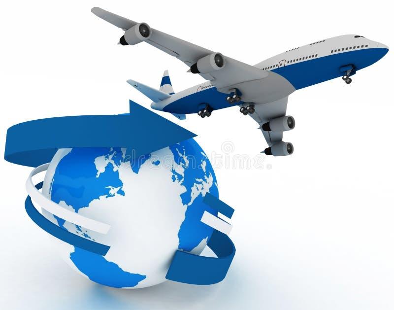 Passenger jet airplane royalty free illustration