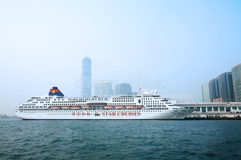 Passenger liner in hong kong stock photos