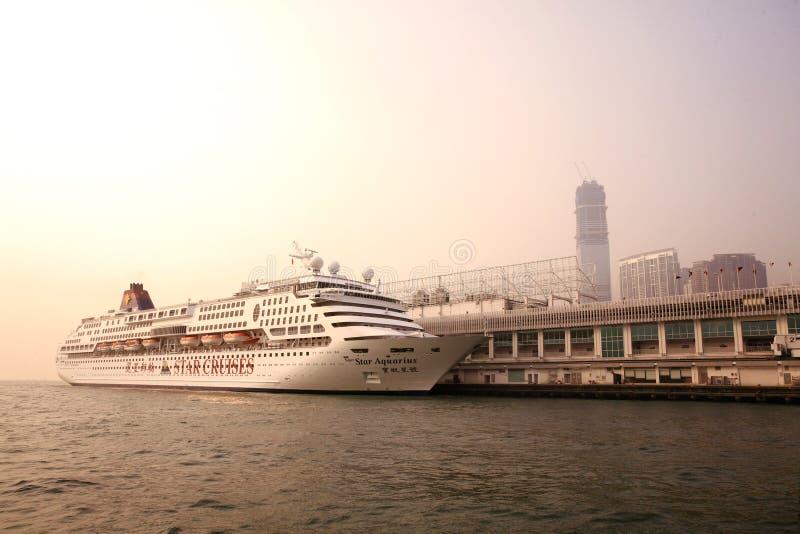 Passenger liner in hong kong royalty free stock image