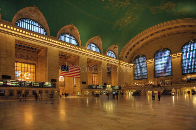 Passenger move through Grand Central Station, New York royalty free stock image