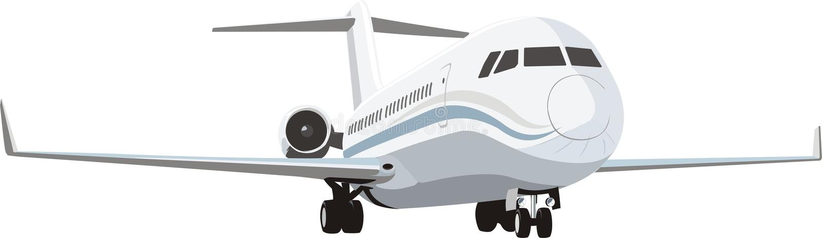 Download Passenger plane stock vector. Image of airplane, fuselage - 13058010