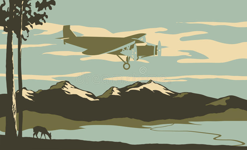 Download Passenger Plane stock vector. Image of 1930s, motor, plane - 14568651