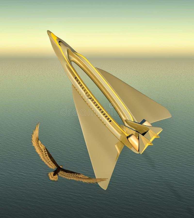Passenger plane royalty free illustration