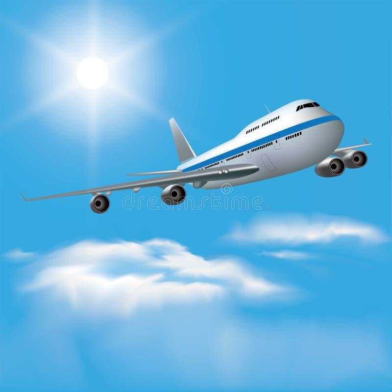 Passenger plane vector illustration