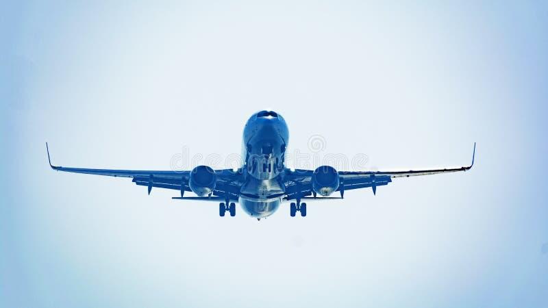 Passenger plane taking off composition photography composition. Passenger plane taking off composition photography stock photo