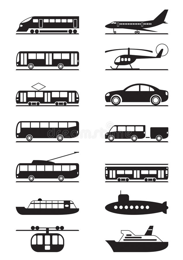 Download Passenger & Public Transportation Stock Vector - Image: 24106647