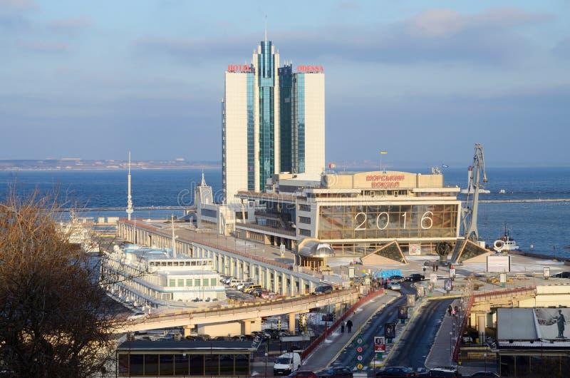 passenger seaport of international importance,Odessa,Ukraine stock photo