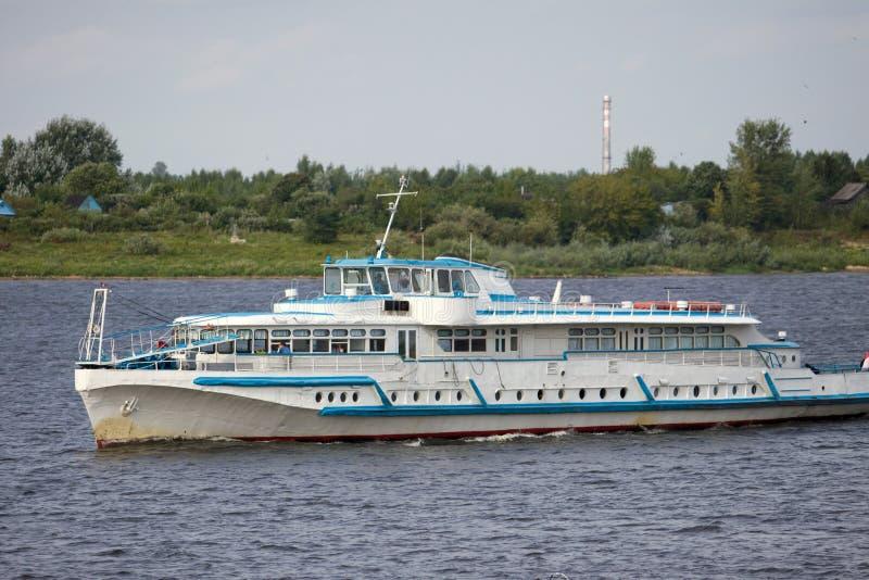 Passenger ship. Still in the dock of leaving stock photography