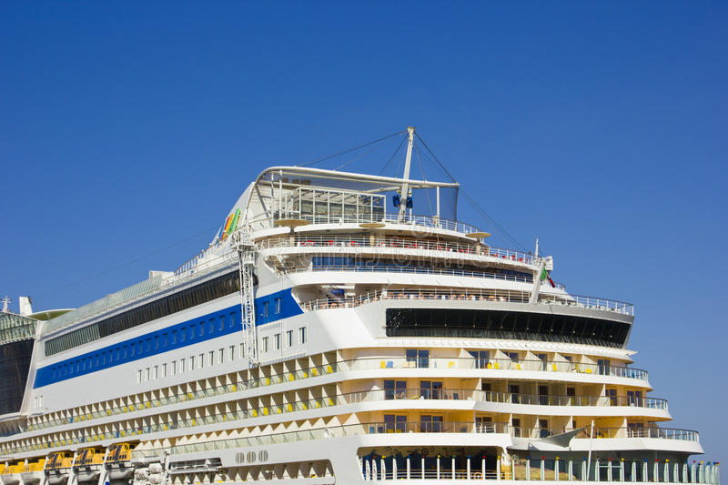 Passenger ship AIDA. Port Said,Egypt stock image