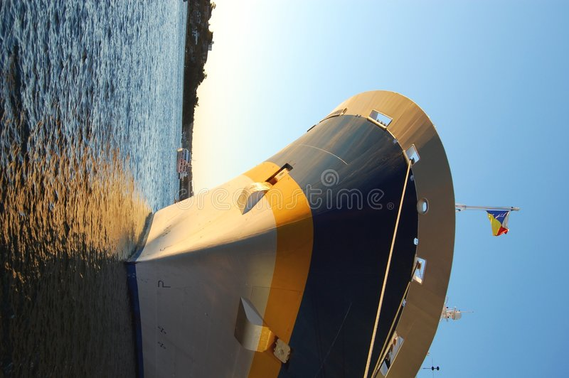 Download Passenger ship bow stock photo. Image of harbour, farewell - 2958732