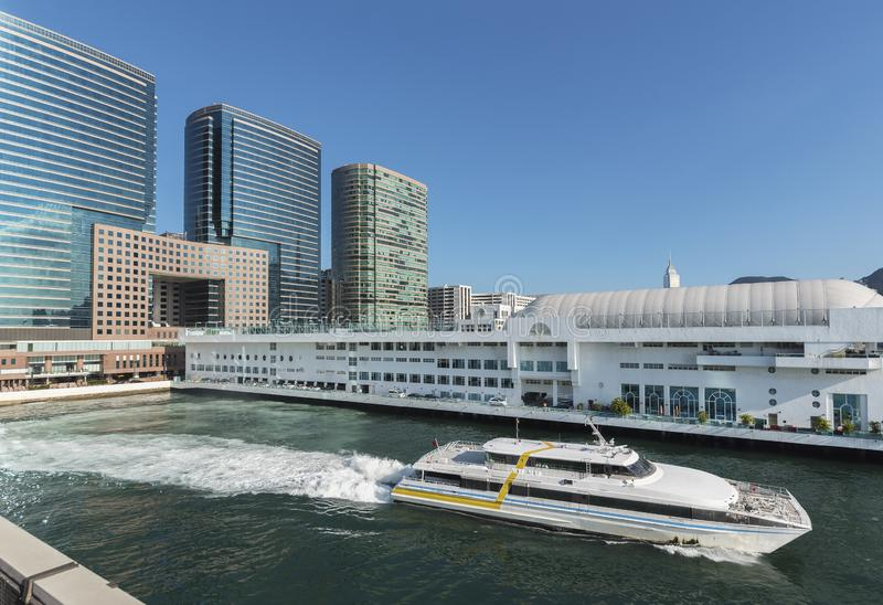 Victoria harbor in Hong Kong city royalty free stock photo