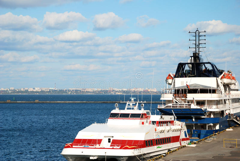 Download Passenger ships stock image. Image of rope, clouds, moor - 12756857