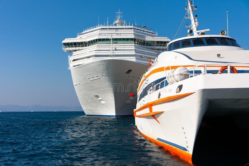 Passenger ships stock images
