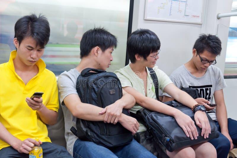 Passenger in subway in guangzhou royalty free stock photo
