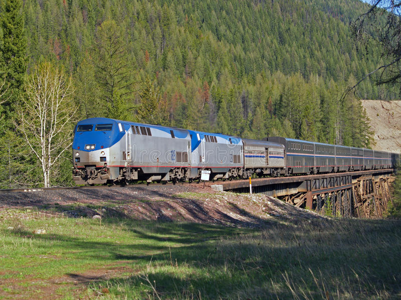 Download Passenger Trail Crossing Trestle Stock Photo - Image of engines, diesels: 10593590