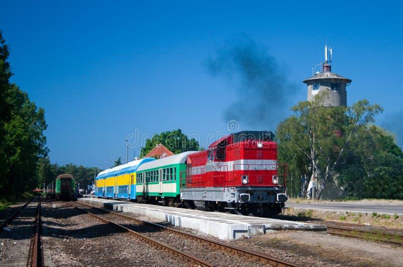 Download Passenger train stock image. Image of daylight, departure - 15212909