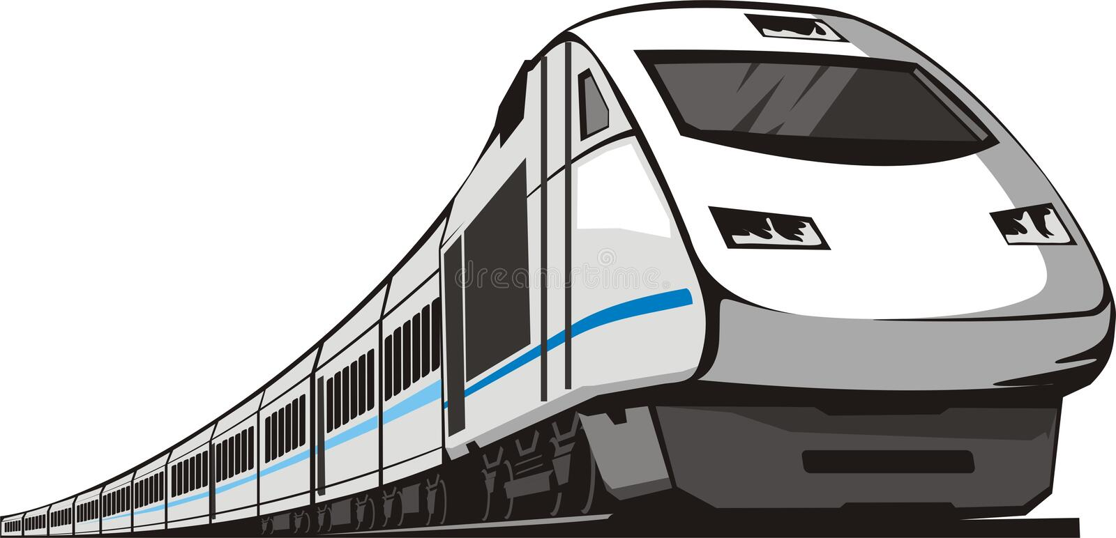 Passenger train vector illustration