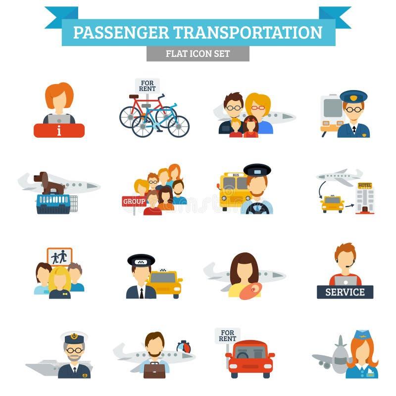 Passenger Transportation Icon Flat vector illustration