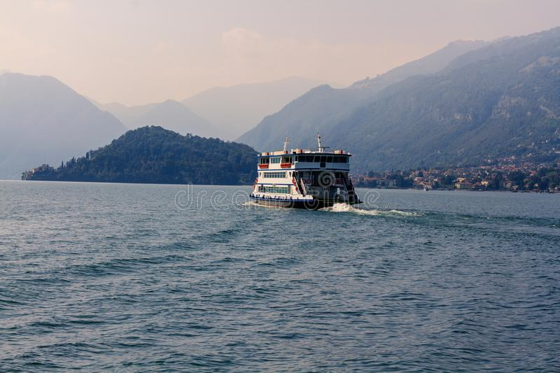 A Passenger Trip Boat at Como Lake royalty free stock photo