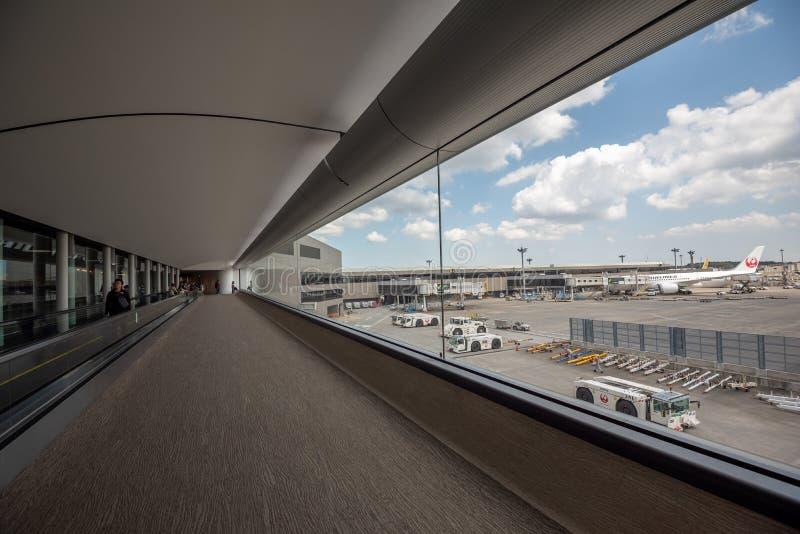 Passenger walking in the terminal at Narita International airport Japan royalty free stock photos