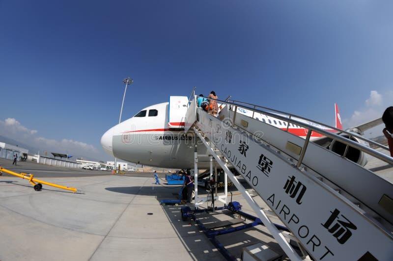 Passengers boarding royalty free stock image