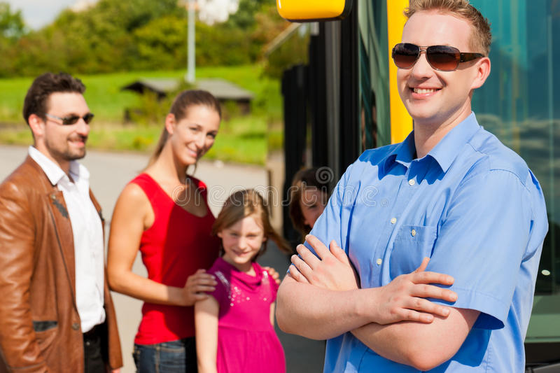 Passengers Boarding A Bus Royalty Free Stock Photo