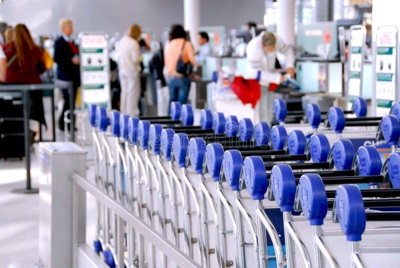 Passengers Carts Airport Stock Photo