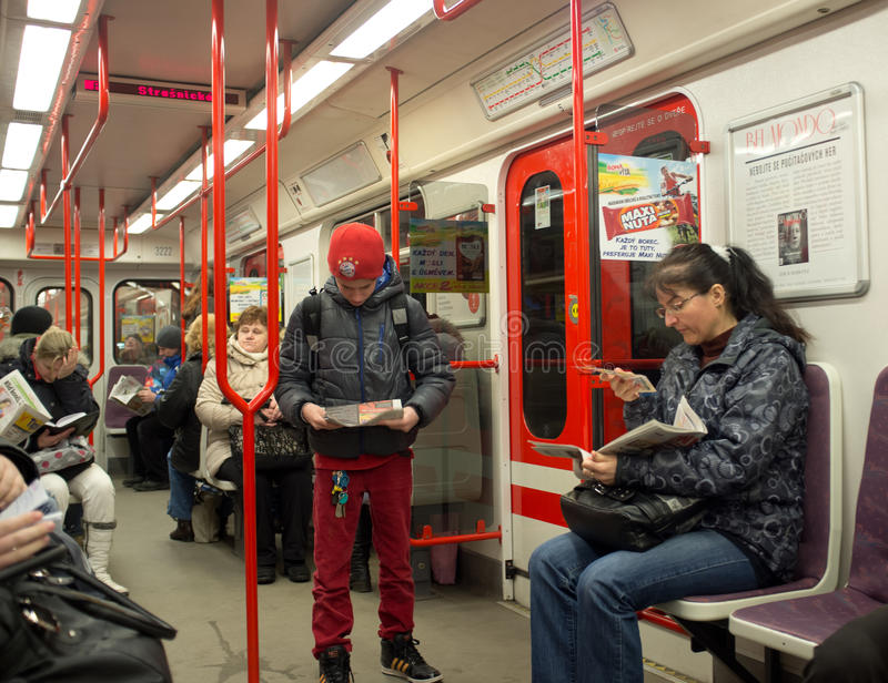 Download Prague Metro. Czech Republic Editorial Photography - Image of people, motion: 30124212