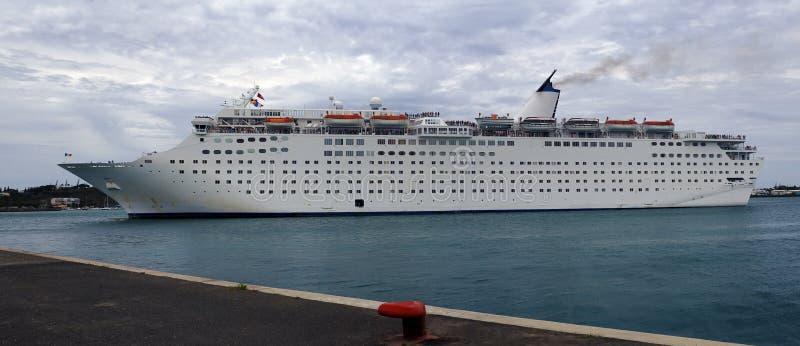 Passengers ship at harbour stock photos