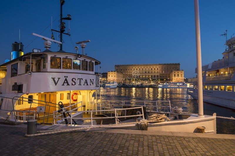 Passengership clássico M/S Vastan Éstocolmo fotos de stock royalty free