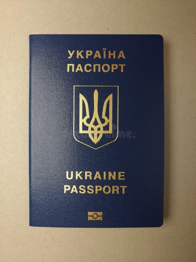 Passeport étranger d'un citoyen de l'Ukraine, photos libres de droits
