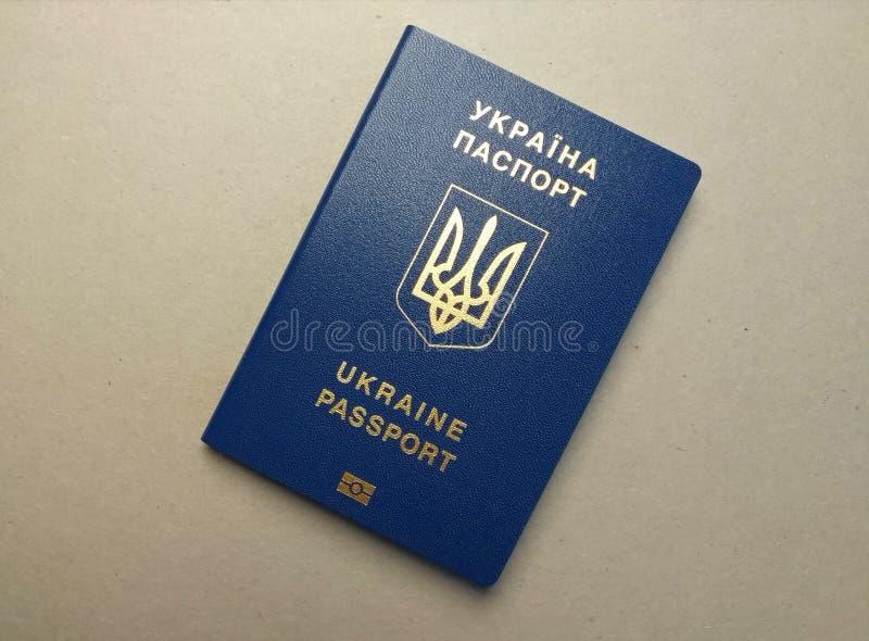 Passeport étranger d'un citoyen de l'Ukraine, image stock
