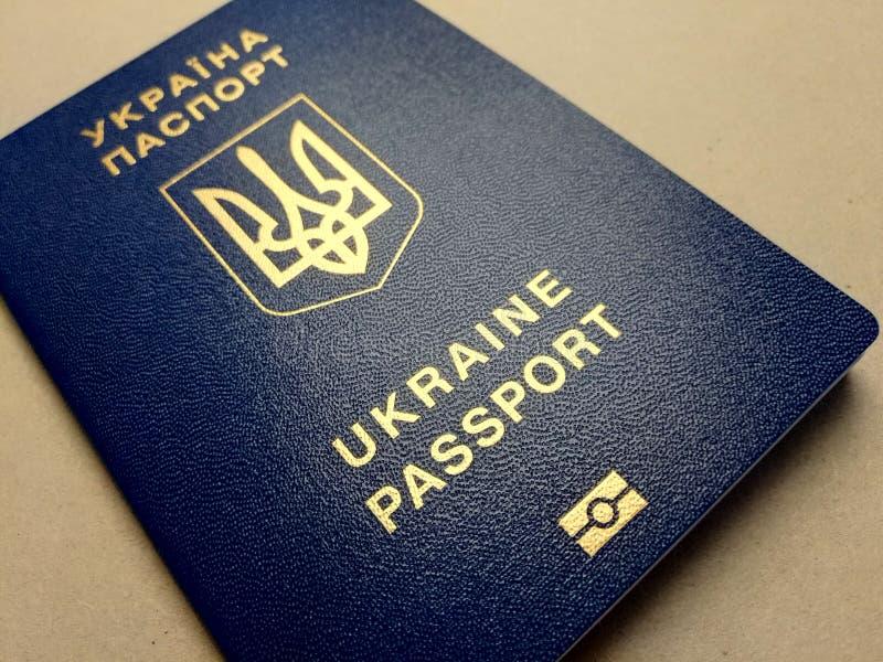Passeport étranger d'un citoyen de l'Ukraine, images libres de droits