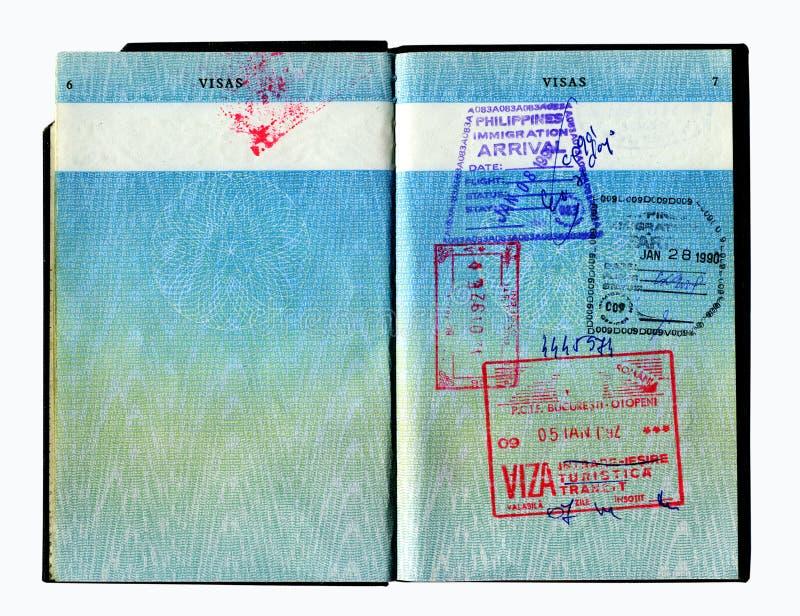 Passeport photos stock
