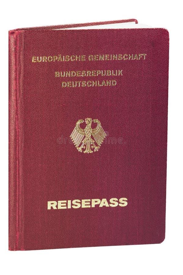 Passeport allemand - 02 d'isolement images libres de droits