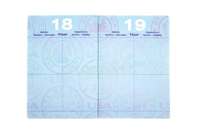 Passeport avec des pages de visa photographie stock libre de droits