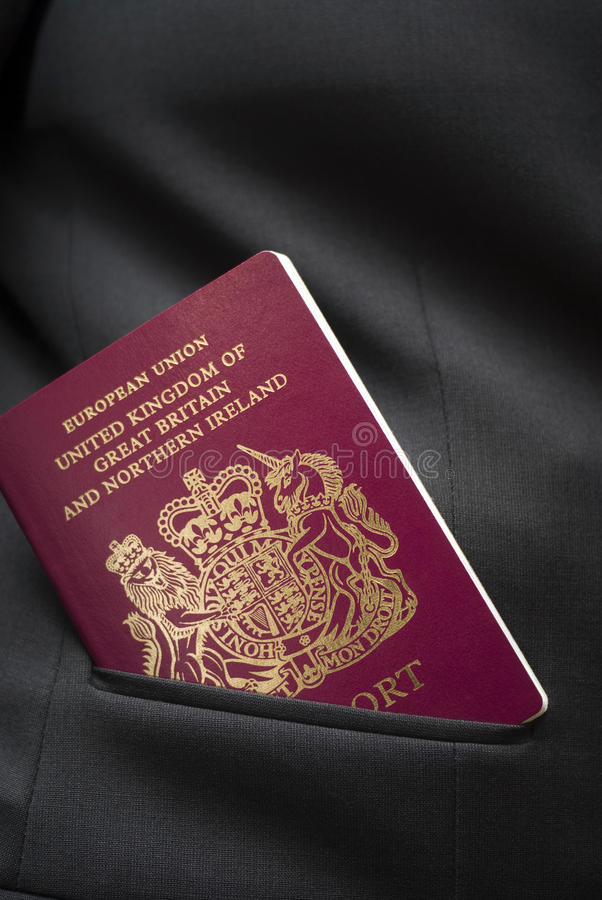 Passeport britannique photo libre de droits