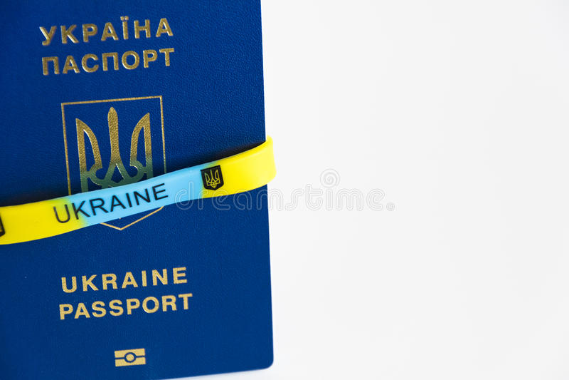 Passeport d'uA photo libre de droits